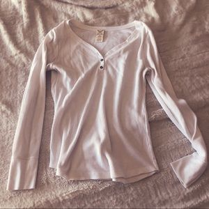 White thermal with buttons